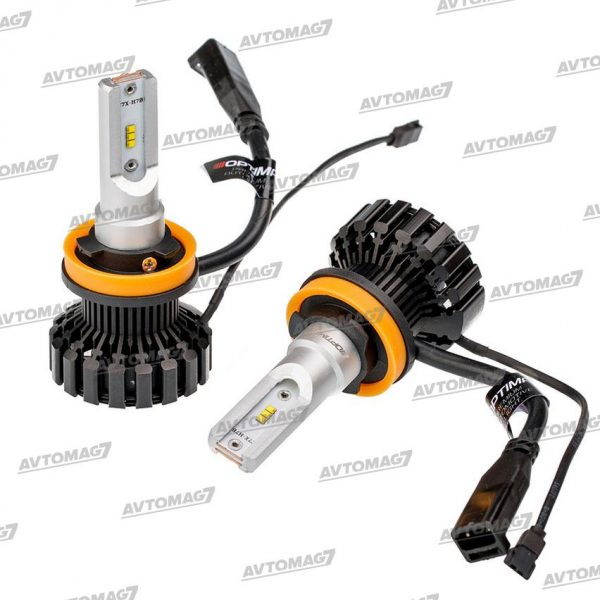 Лампа светодиодная H11 1224V-28W 6000K Optima LED Ultra control, White