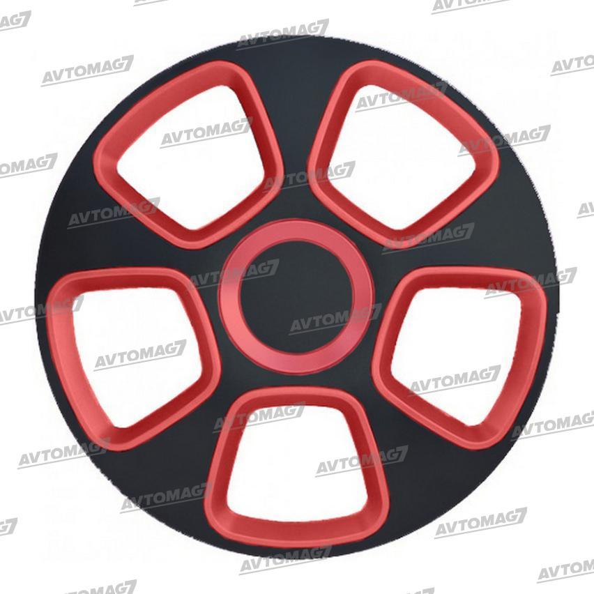 Колпаки на Колеса R13 Койот Черно-Красные