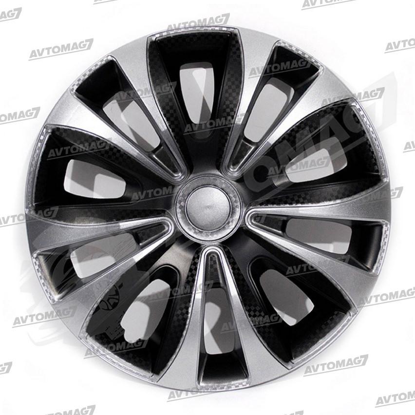 Колпаки на Колеса R15 Колибри Серебристо-черные