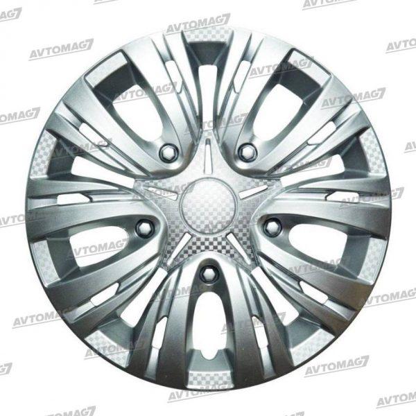 Колпаки на Колеса R16 Лион Серебро карбон
