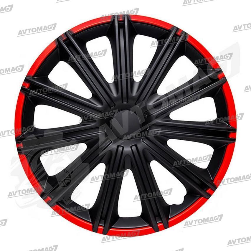 Колпаки на Колеса R14 Неро Черные красный обод