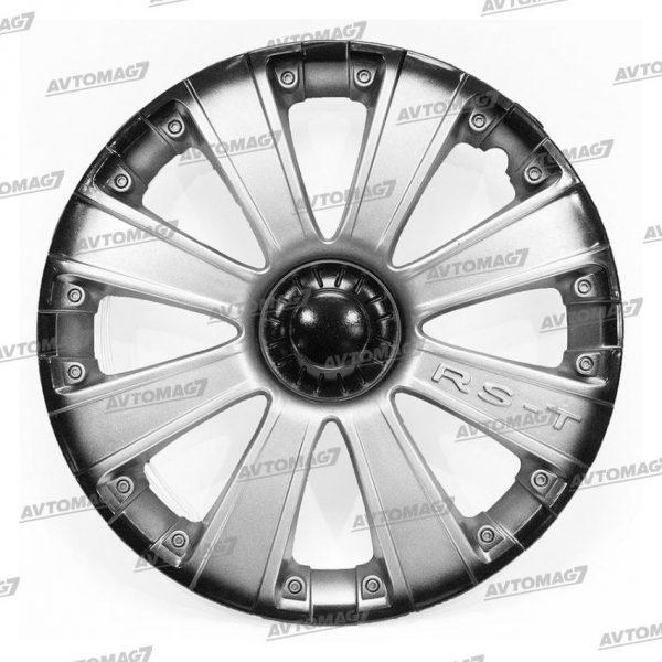 Колпаки на Колеса R16 RS-T Серебристо-черные
