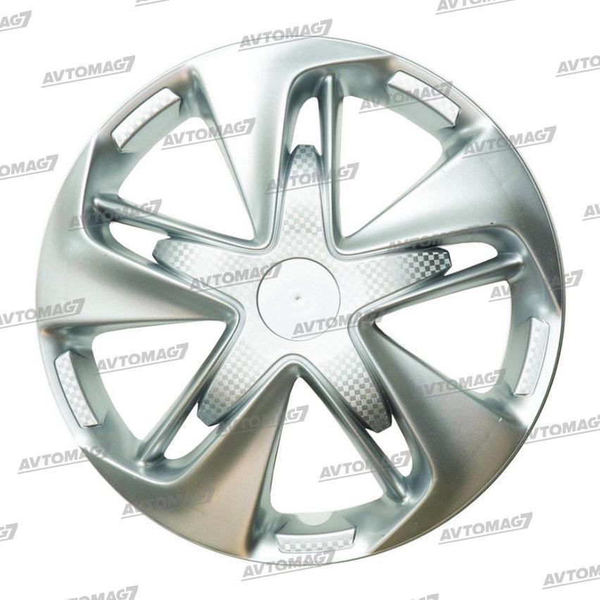 Колпаки на Колеса R15 Супер Астра Серебро карбон