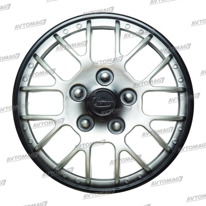 Колпаки на Колеса R14 Виктори Супер Серебристо-черные